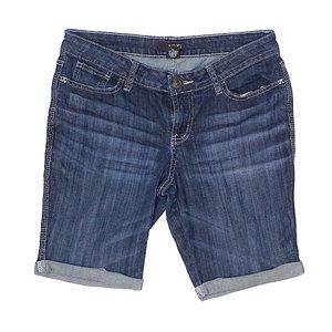   A.n.a   Solid Blue Denim Shorts- 10P